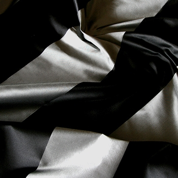 27. Pewter Silk Stripe Satin