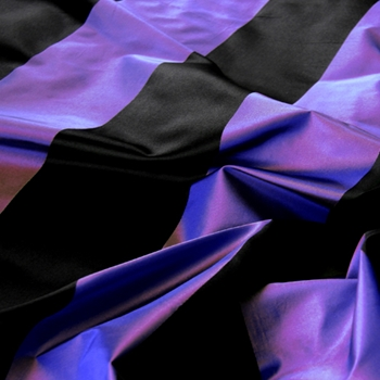 32. Cobalt Silk Stripe Satin