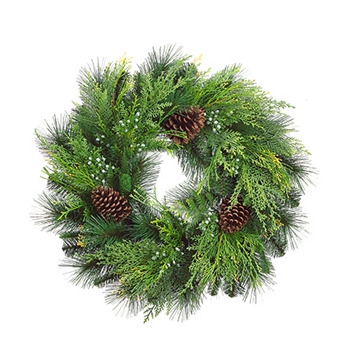 Cedar/Pine Wreath 24in