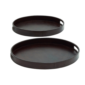 Leather Trays/ Set of 2