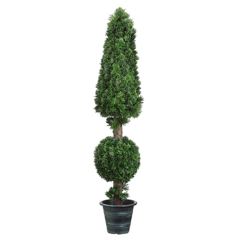 Cedar Cone/Ball Topiary 41in