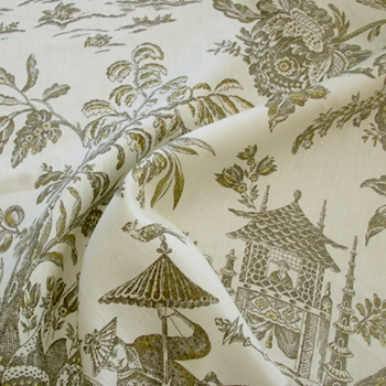 10. Ginger Toile Asian Arcadia
