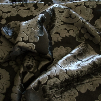 23. Graphite Velvet Brooks Damask