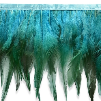 Feather Fringe Turquoise 5.5in