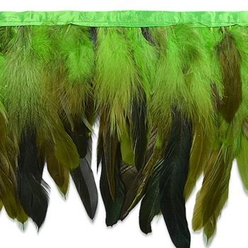 Feather Fringe Lime 6in