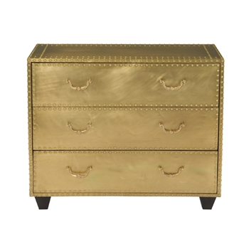 Kent Chest 38W/20D/31H Brass