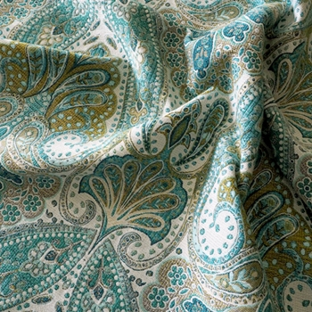 41. Turquoise Jacquard Cheval Peacock