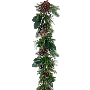 54. Green Magnolia/Pine Garland 6ft
