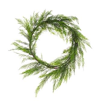 54. Green Cedar Wreath 28in