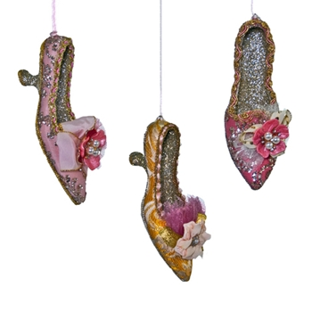 Shoe Tapestry Pink/Gold 7in