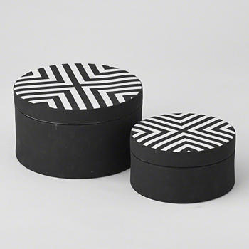 Chevron Box Blk/Wh 8.5in