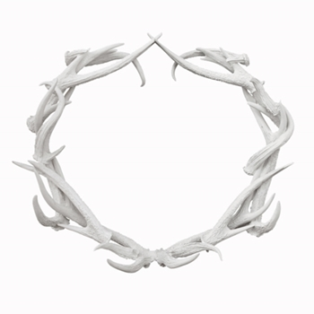 Antler Wreath 30in