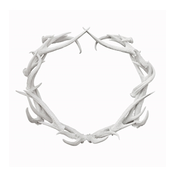 Antler Wreath 27in
