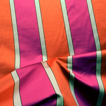 90. Fuchsia Stripe Consequence Satin