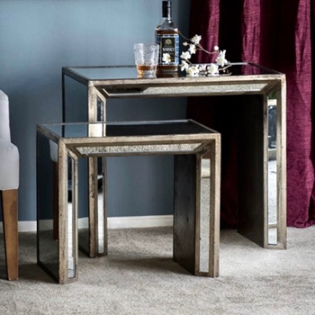 Nesting Mirror Tables 27x16x24H