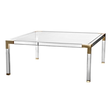 Acrylic Coffee Table Clear 40IN SQ x17H