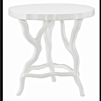 Arbor Table 26x25H White Resin