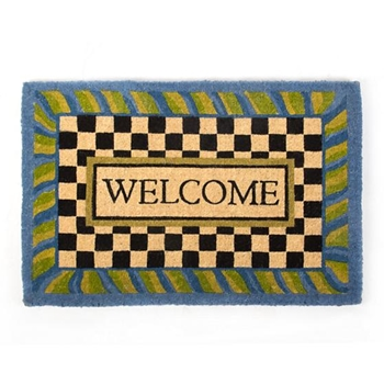 Doormat Periwinkle Welcome 2X3FT