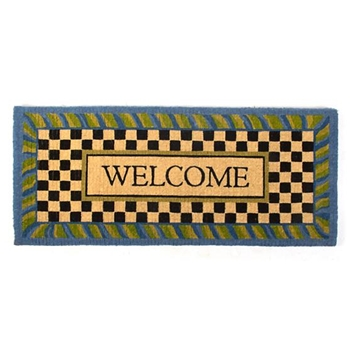 Doormat Periwinkle Welcome 2X5FT