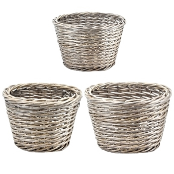 Willow Baskets Set3 24W/20D/16H
