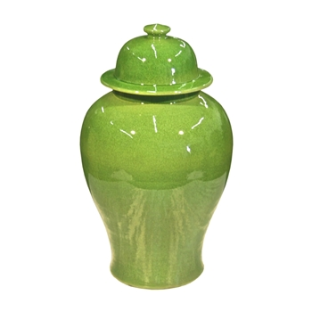 Lime Green Temple Jar 10W/18H