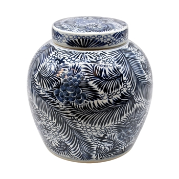 Delft Jar Blooming Flower 11W/12H