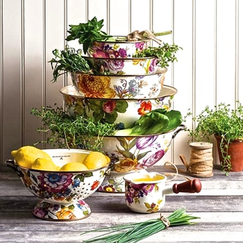 Colander Flower MKT WHT 11IN