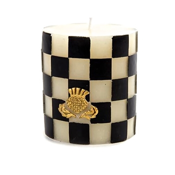 Candle Courtly Thistle 3X4