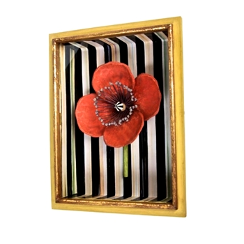 Shadow Box Poppy Red 12W/16H