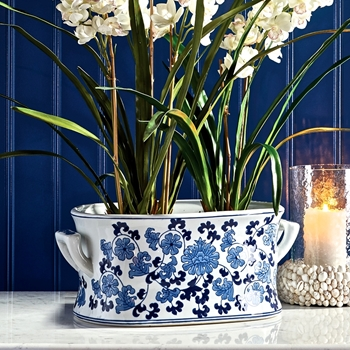 Delft Planter Lotus 20W/12D/8H