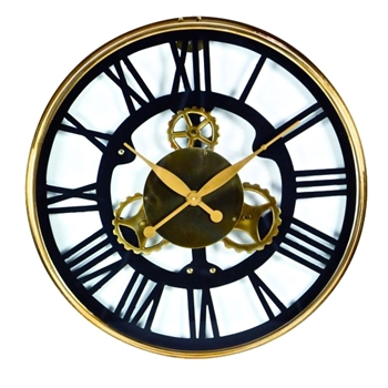Wall Clock Roman Gear 25IN