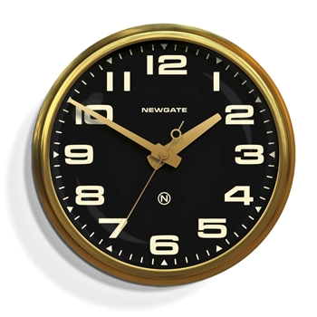 Wall Clock Newgate Brixton Black 18IN