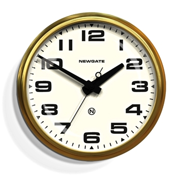 Wall Clock Newgate Brixton Cream 18IN