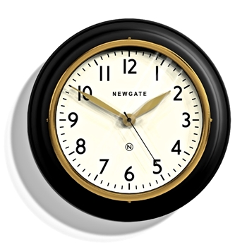 Wall Clock Newgate Black Cookhouse II 14IN