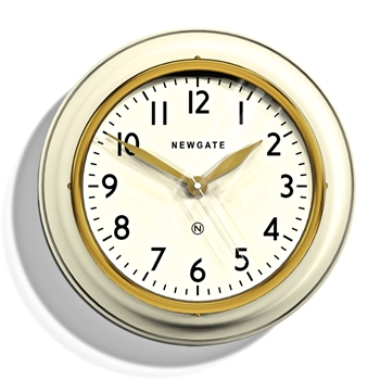 Wall Clock Newgate Ivory Cookhouse II 14IN