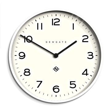 Wall Clock Newgate Echo Number 1 21IN White