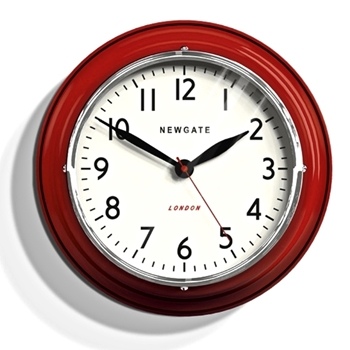 Wall Clock Newgate Cookhouse Mini Red 9IN