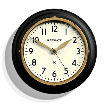 Wall Clock Cookhouse Mini Blk/Gld 9IN