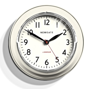 Wall Clock Newgate Cookhouse Lin/WHT 14IN