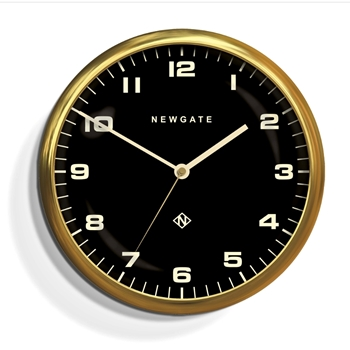 Wall Clock Newgate Chrysler BLK/GLD 16IN