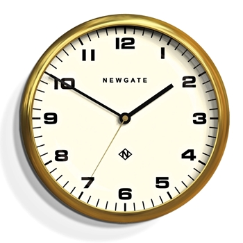 Wall Clock Newgate Chrysler Gold 16IN