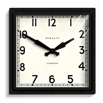 Wall Clock Newgate Quad Black/White 16SQ