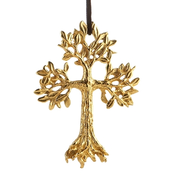Aram Holiday Ornament Leafy Cross 5IN
