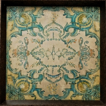 Tray - Vintage Lyonne Turquoise 24SQ