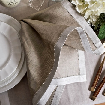 Napkin Linen French Melody Taupe 21SQ