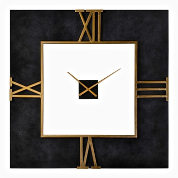 40W/40H Wall Clock - Mudita Square Black/Gold