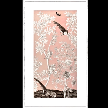 26W/44H Framed Print - Blush Chinoiserie II