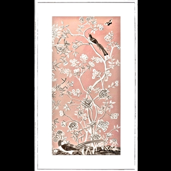 26W/44H Framed Print - Blush Chinoiserie I