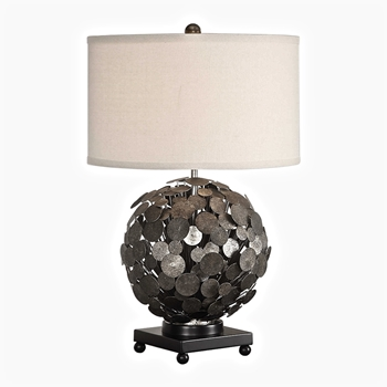 Lamp Table Callisto 18W/27H Iron Disc Globe