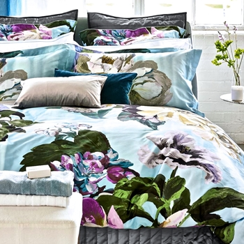 Designers Guild Delft Flower Sky Blue Bedding